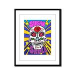 Sugar Skull Framed Panel Print