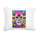 Sugar Skull Rectangular Canvas Pillow