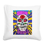 Sugar Skull Square Canvas Pillow