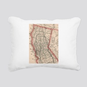 Vintage Map of Northern Rectangular Canvas Pillow