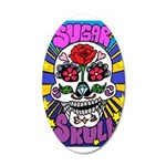 Sugar Skull 35x21 Oval Wall Decal