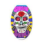 Sugar Skull 20x12 Oval Wall Decal