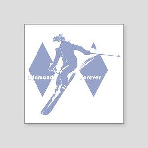 """diamonds forever lavender Square Sticker 3"""" x 3"""""""
