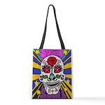 Sugar Skull Polyester Tote Bag