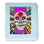 Sugar Skull baby blanket