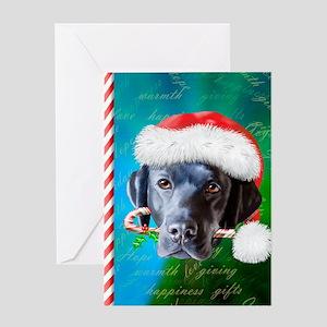 black lab-santa-journal-2 Greeting Card