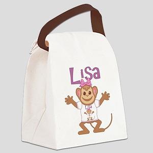 lisa-g-monkey Canvas Lunch Bag