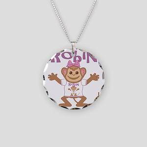 robin-g-monkey Necklace Circle Charm