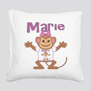 marie-g-monkey Square Canvas Pillow