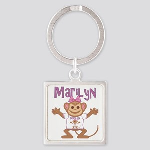 marilyn-g-monkey Square Keychain