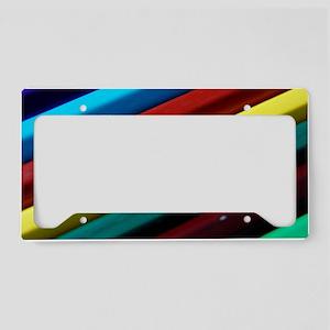 rainbow-crayons License Plate Holder