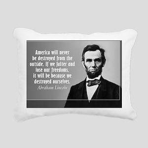 Lincoln Quote Aneruca Rectangular Canvas Pillow
