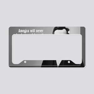 Lincoln Quote Aneruca License Plate Holder
