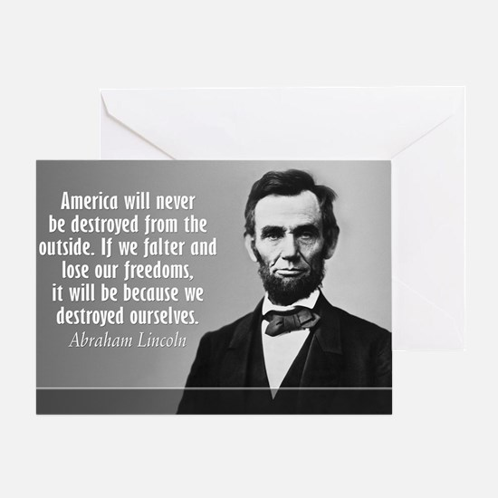 Lincoln Quote Aneruca Greeting Card
