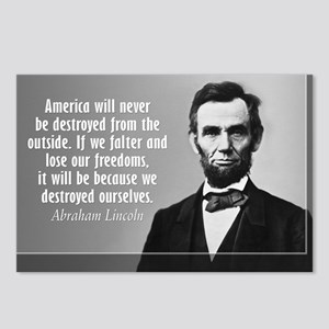 Lincoln Quote Aneruca Postcards (Package of 8)