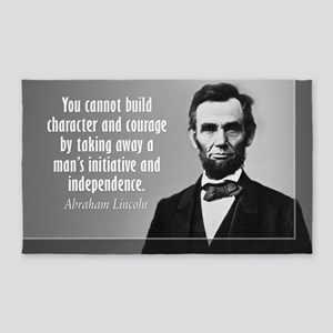 Lincoln Quote Character 3'x5' Area Rug