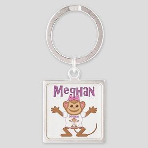meghan-g-monkey Square Keychain