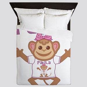 paula-g-monkey Queen Duvet