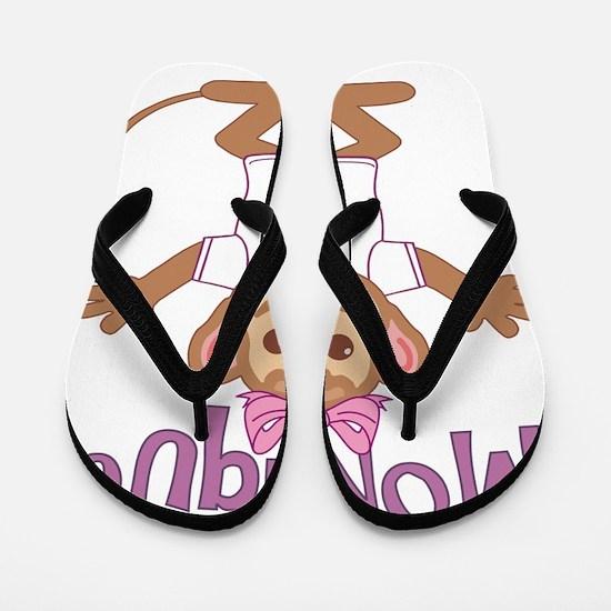 monique-g-monkey Flip Flops