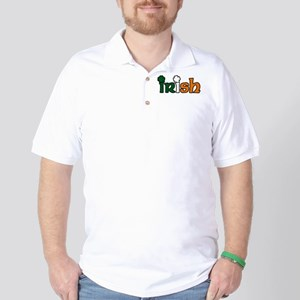 Irish Tri-color with Shamrocks Golf Shirt