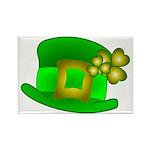 Shamrock Hat Rectangle Magnet (100 pack)