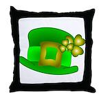Shamrock Hat  Throw Pillow