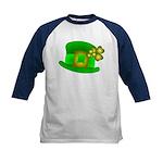 Shamrock Hat Kids Baseball Jersey