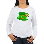 Shamrock Hat Women's Long Sleeve T-Shirt