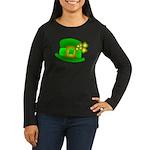 Shamrock Hat Women's Long Sleeve Dark T-Shirt