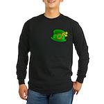 Shamrock Hat Long Sleeve Dark T-Shirt