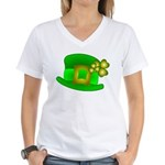 Shamrock Hat Women's V-Neck T-Shirt