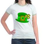 Shamrock Hat Jr. Ringer T-Shirt