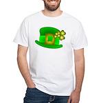 Shamrock Hat White T-Shirt