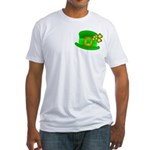 Shamrock Hat Fitted T-Shirt