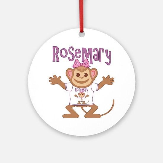 rosemary-g-monkey Round Ornament
