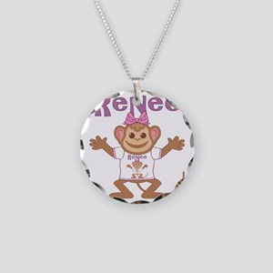 renee-g-monkey Necklace Circle Charm