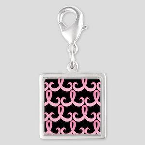 PinkRib365PB460ip Silver Square Charm