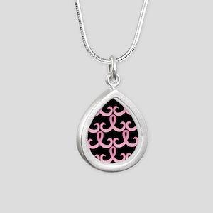 PinkRib365PB460ip Silver Teardrop Necklace