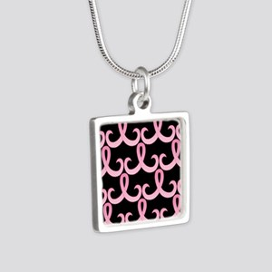 PinkRib365PB460ip Silver Square Necklace