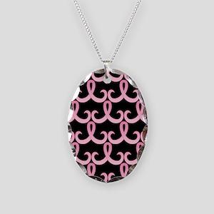 PinkRib365PB460ip Necklace Oval Charm