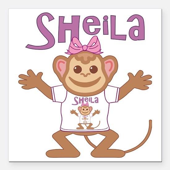 """sheila-g-monkey Square Car Magnet 3"""" x 3"""""""