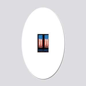 911_NEVERFORGET_10X14 20x12 Oval Wall Decal
