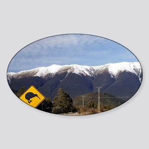 State Highway 63 and St Arnaud Rang Sticker (Oval)