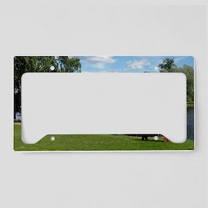 SundbornLake-longer4 License Plate Holder