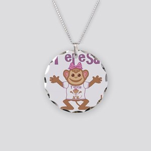 teresa-g-monkey Necklace Circle Charm