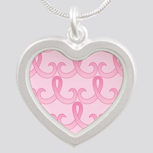 PinkRib365PPMp Silver Heart Necklace