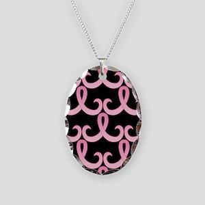 PinkRib365PBjr Necklace Oval Charm