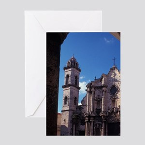 Cuba, La Habana, Plaza de la Catedra Greeting Card
