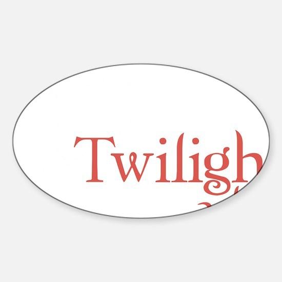 twilight addict2 Sticker (Oval)
