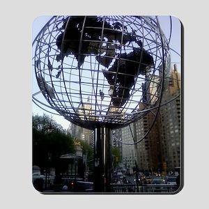 Globe at Central Park Edge Mousepad
